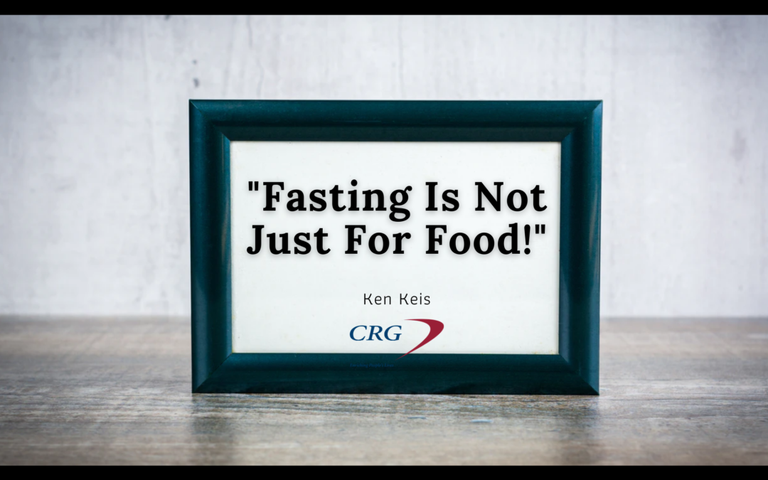 Fasting Is Not Just For Food!